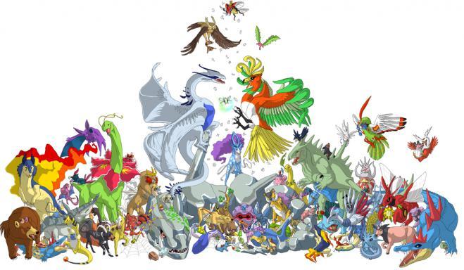 покемоны картинки все виды