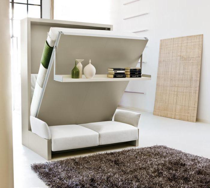 встроенная кровать диван