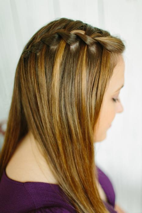 Как плести косу водопад схема фото 606