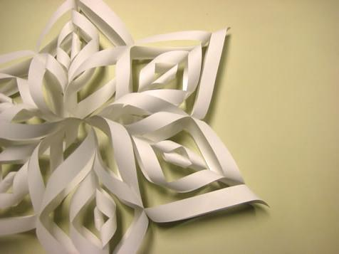 оригами снежинки из бумаги