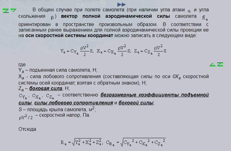 Аэродинамическая формула самолета.