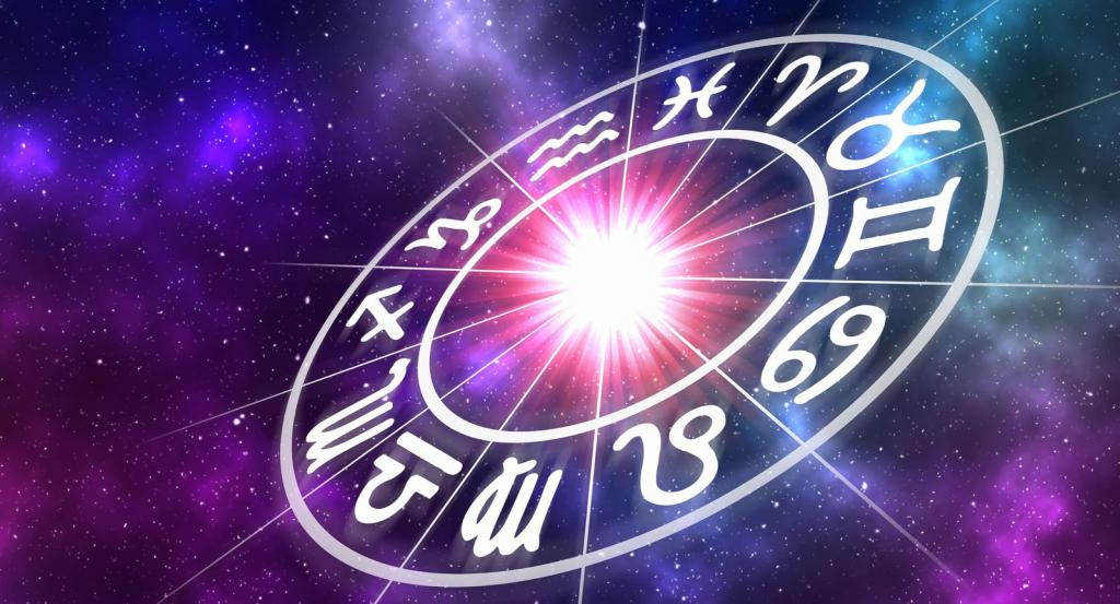 Astrological wheel.