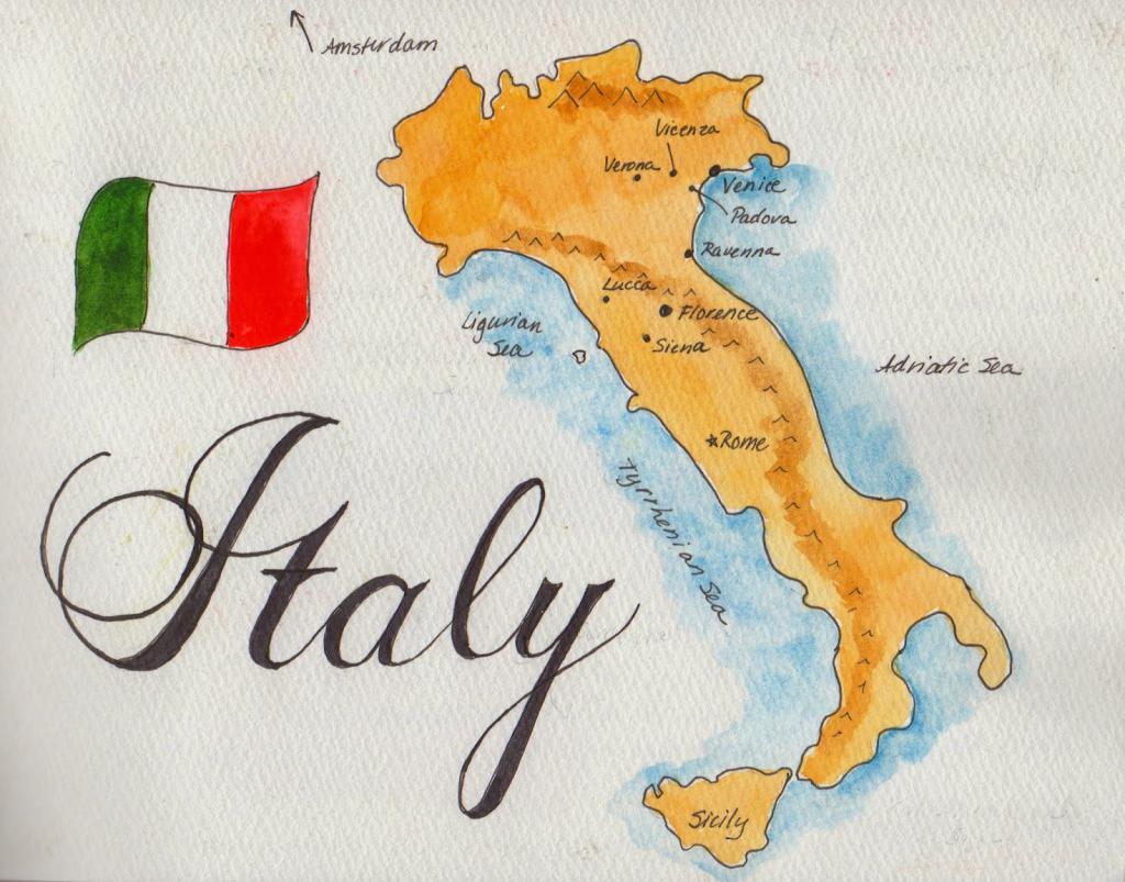 Карта италии картинка