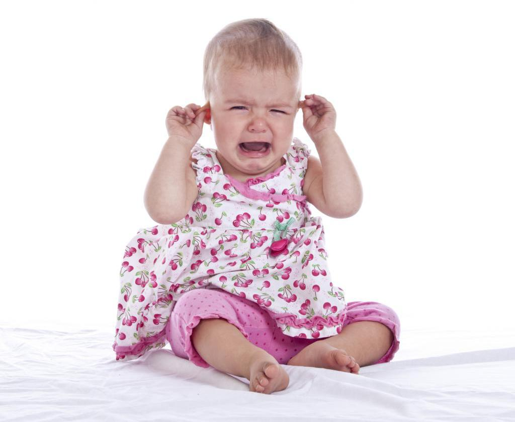 The child often cries, sleeps poorly and eats