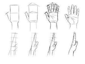 как нарисовать кисть руки карандашом