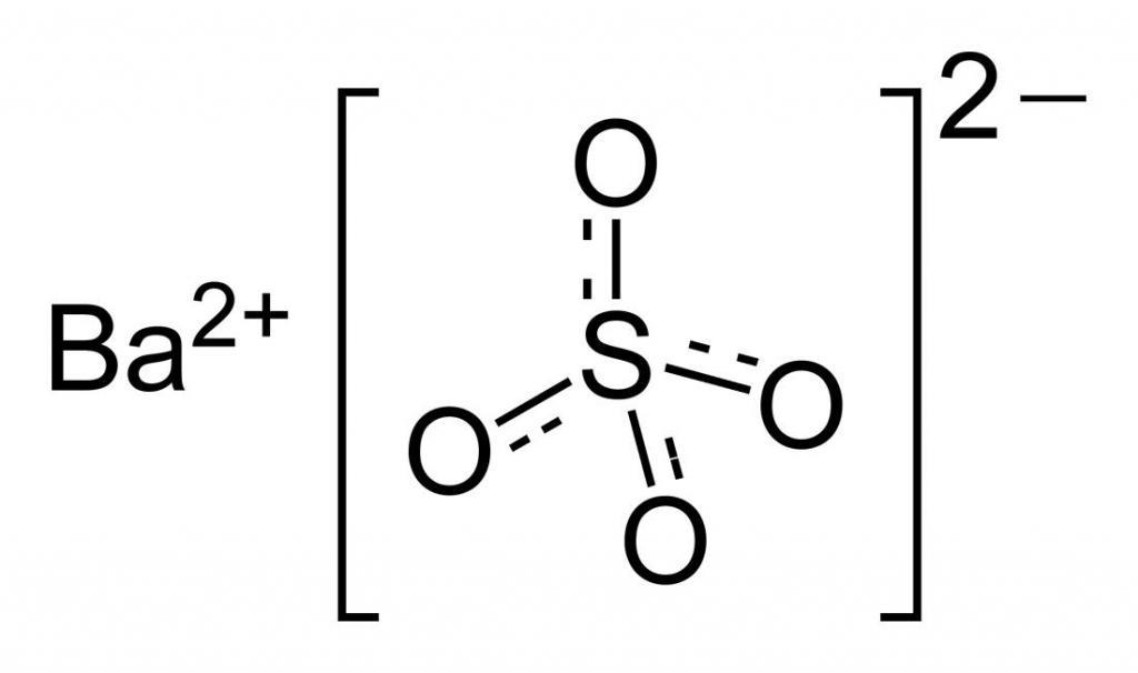 Химическая формула сульфата бария
