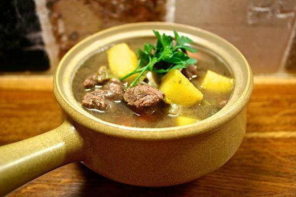 Суп из оленины
