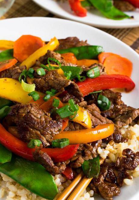 И мясо по китайски с овощами рецепт