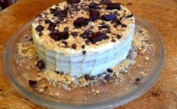 Рецепт рубленного торта со сгущенкой
