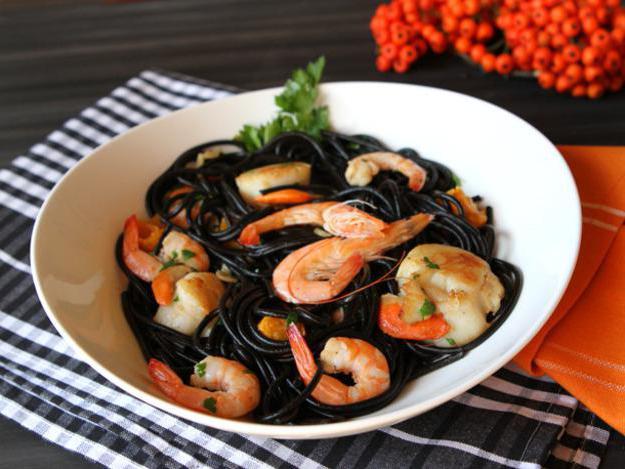 Черные макароны рецепт