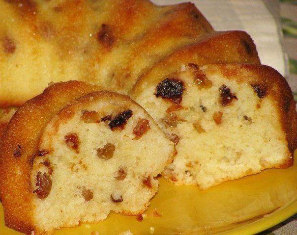 Манник на кефире с изюмом рецепт с фото пошагово в духовке