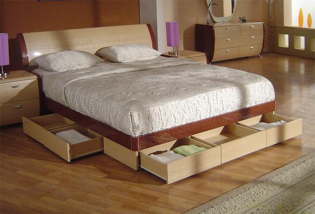 Любое мебельное изделие требует точности при изготовлении, именно поэтому чертёж кровати с выдвижными ящиками