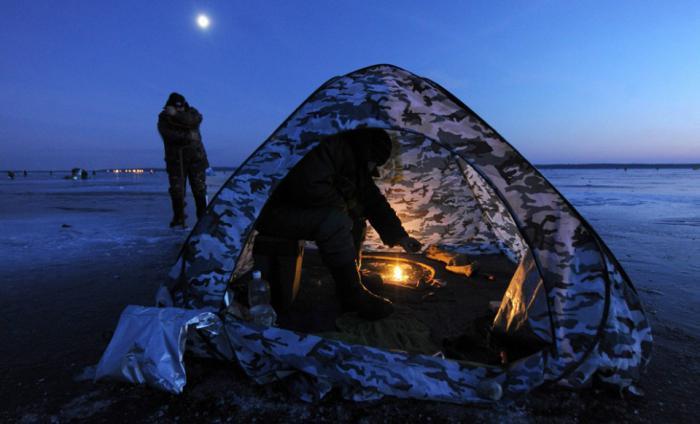 Самодельная палатка для зимней рыбалки