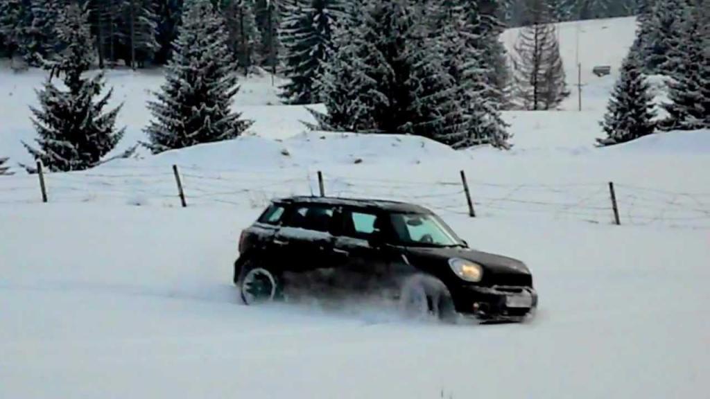 Car on a snowy road