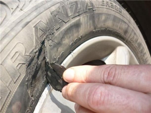Последствия грыжи на шине