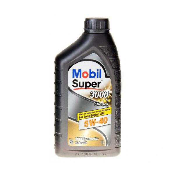 Масло 5W40 Mobil Super 3000 X1 объемом 1 литр