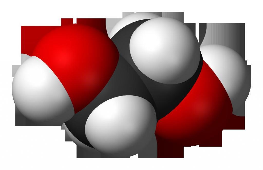 Структурная формула этиленгликоля