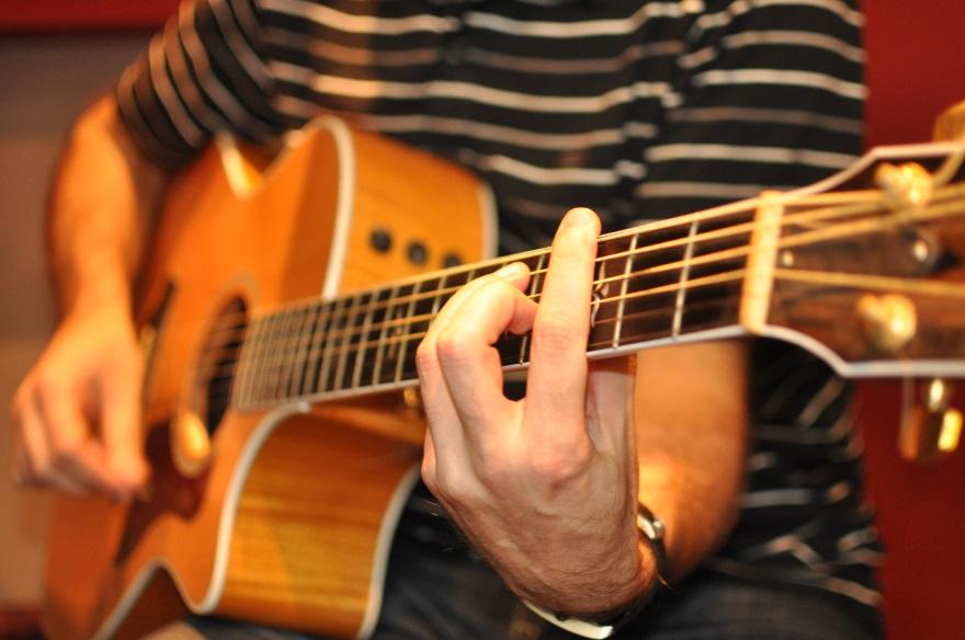 Guitar player playing