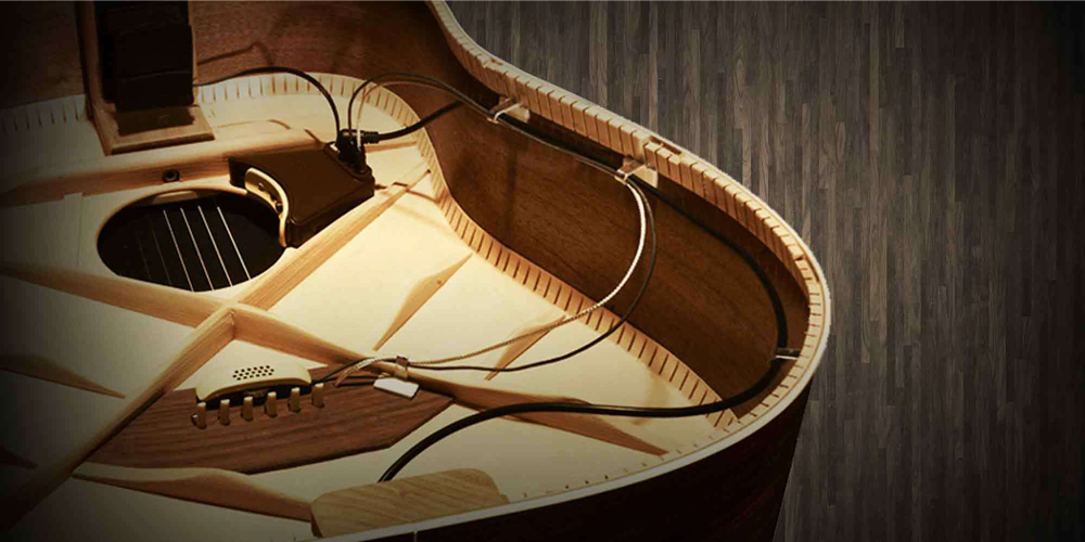 Inside the guitar