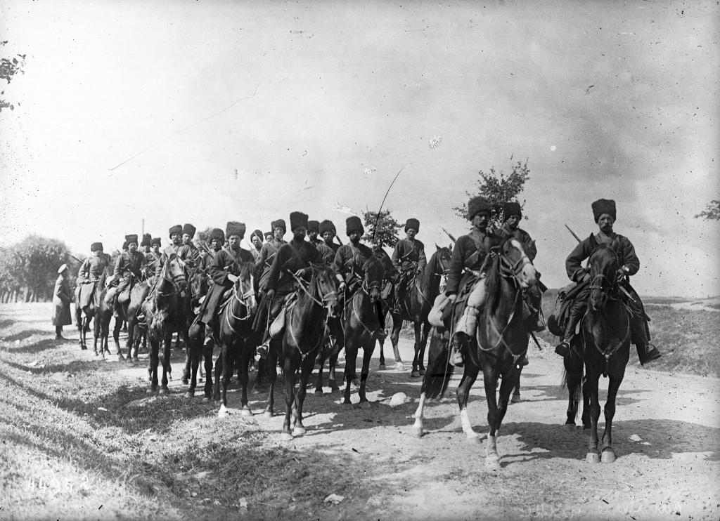 Russian Cossacks at the front