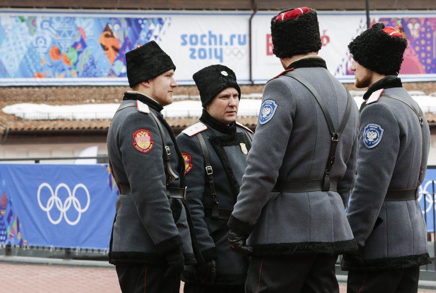 Cossacks at the Olympics in Sochi