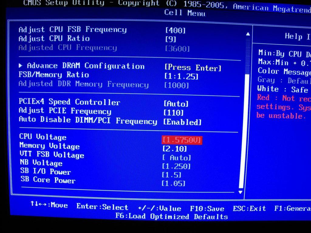 Overclocking with BIOS