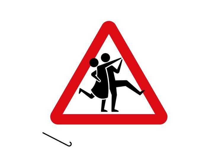 Смешные картинки дорожных знаков для выкупа, молодоженам открытки поздравление