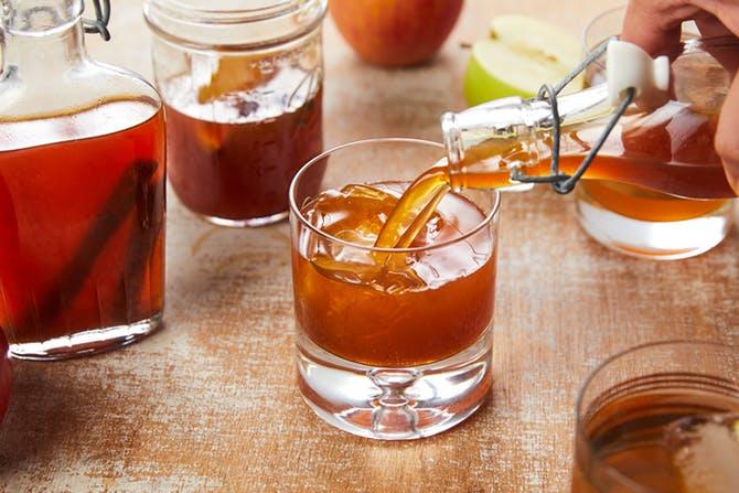 Apple and oak moonshine