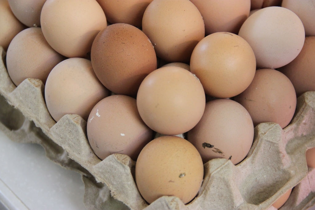 Eggs in the store
