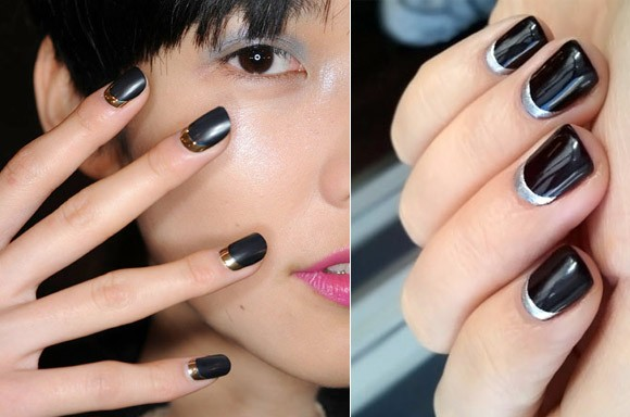 gothic moon manicure