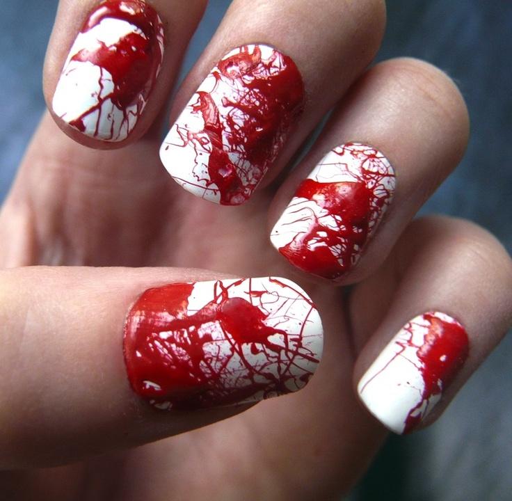 bloody manicure
