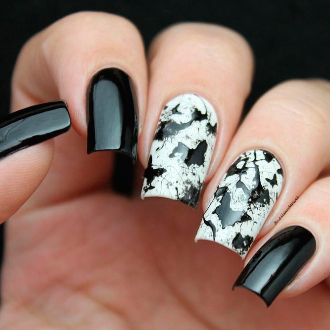 white and black in gothic