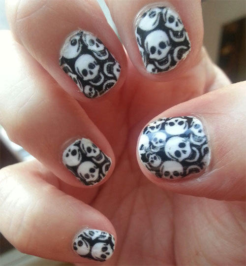 gothic manicure for short nails