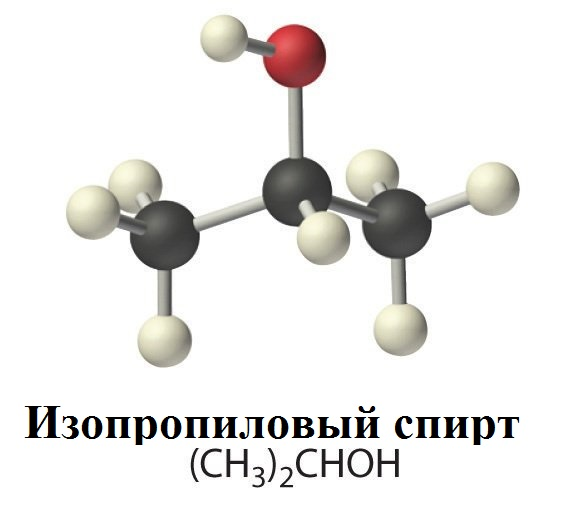 Формула изопропилового спирта
