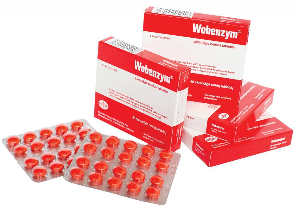 Вобэнзим таблетки картинки