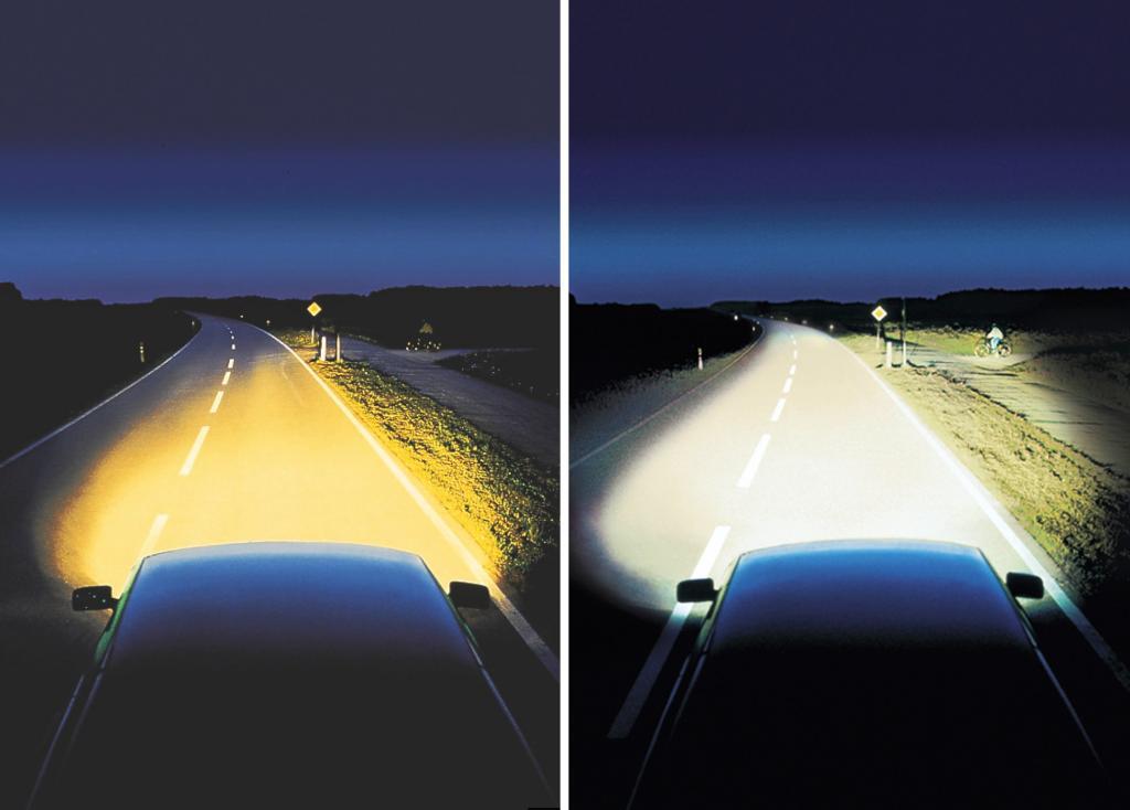 сравнение ксенона и галогеновой лампы
