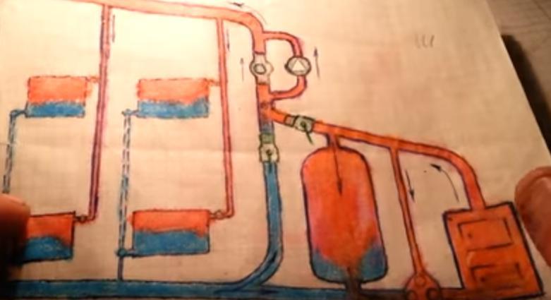 теплоаккумулятор, встроенный в гравитационную систему