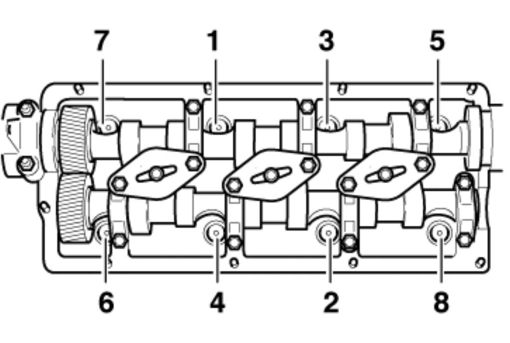 схема затяжки 16-клапанной головки
