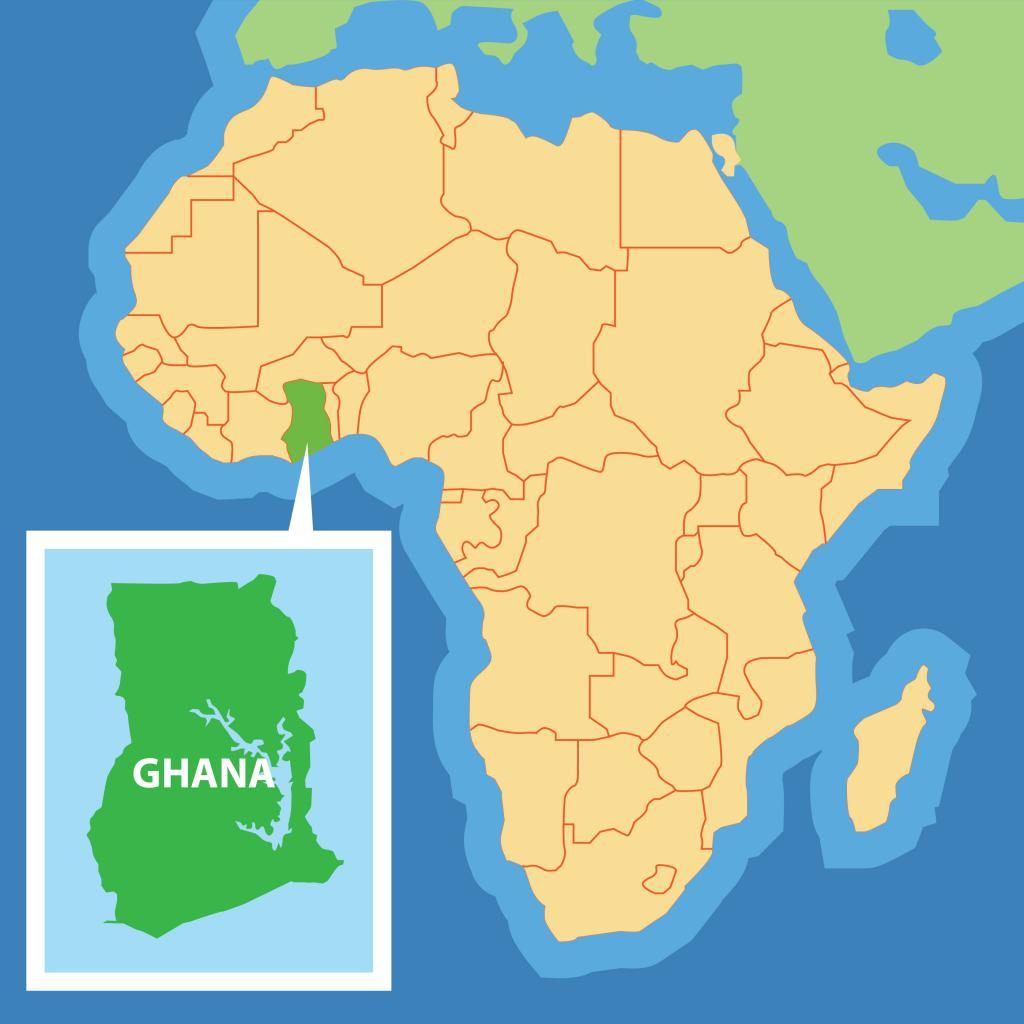 Ghana on the map