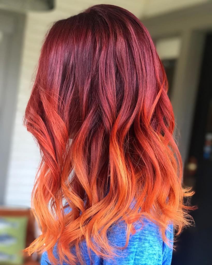 Омбре на каскад: описание с фото, палитра цветов, выбор краски для волос, техника окрашивания, особенности и нюансы ухода за волосами после окраски