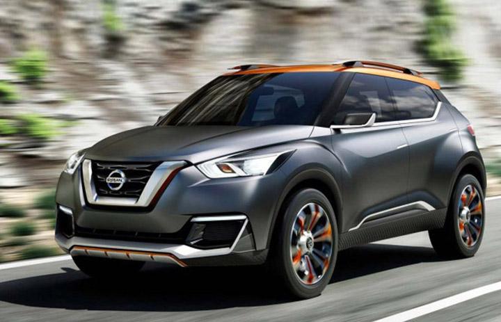 Фронтальная часть нового Nissan Juke