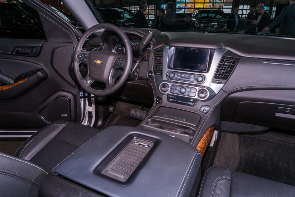 The interior of the new SUV