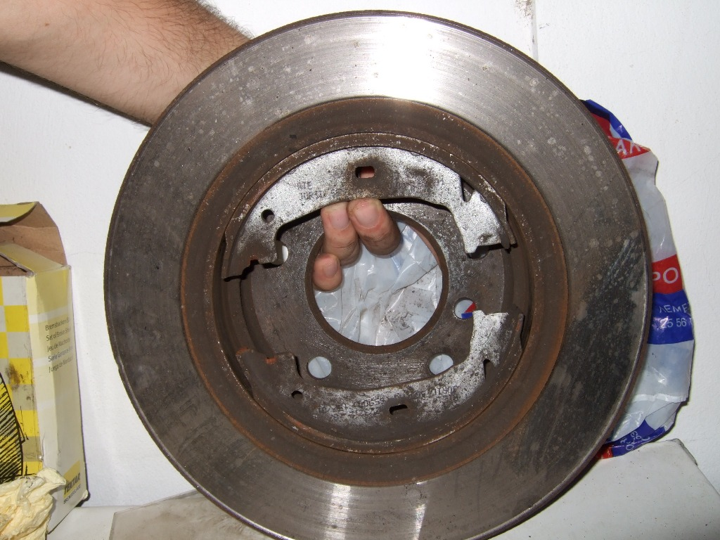 Задний диск с колодками