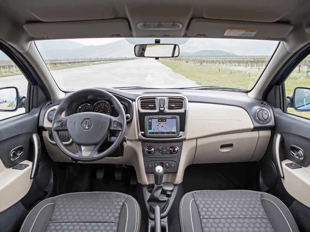 The interior of the new sedan