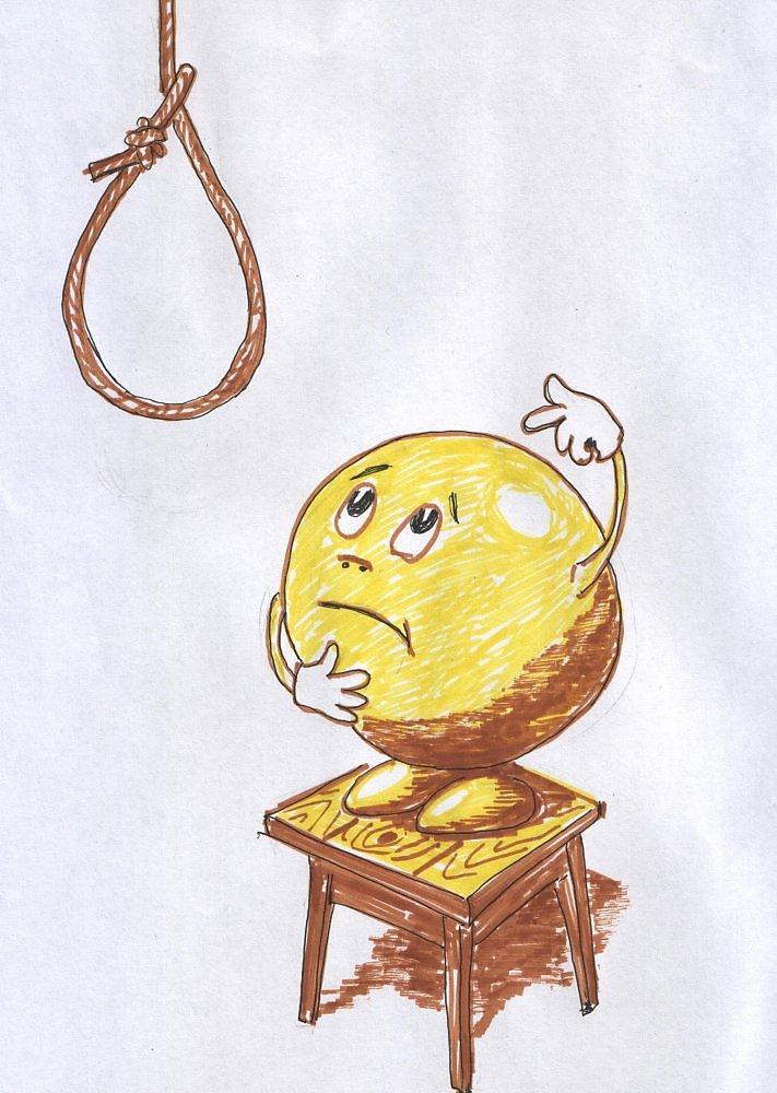 Юмор, рисунок колобок смешной