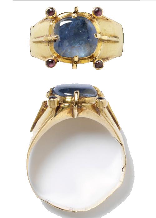 sapphire inlaid ring