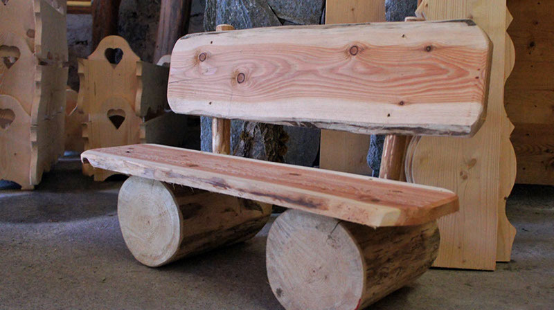 Unusual wooden bench