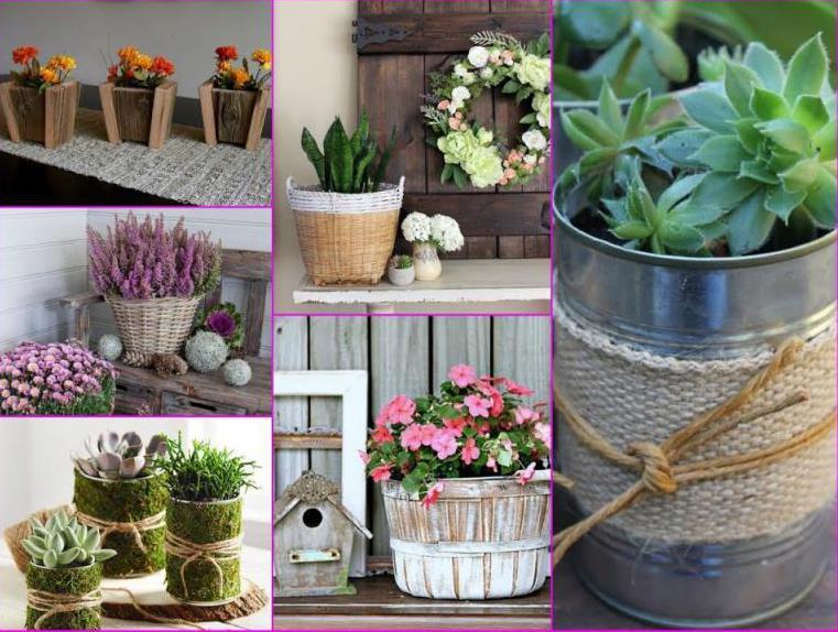 Как украсить горшок для цветка своими руками? Идеи и фото