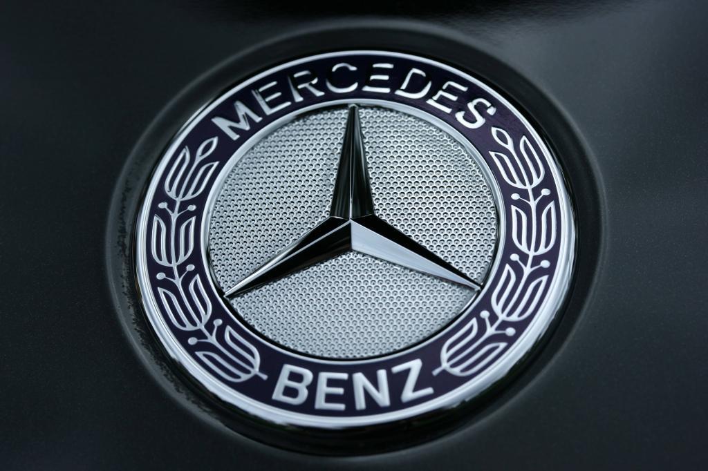 Mercedes company logo.