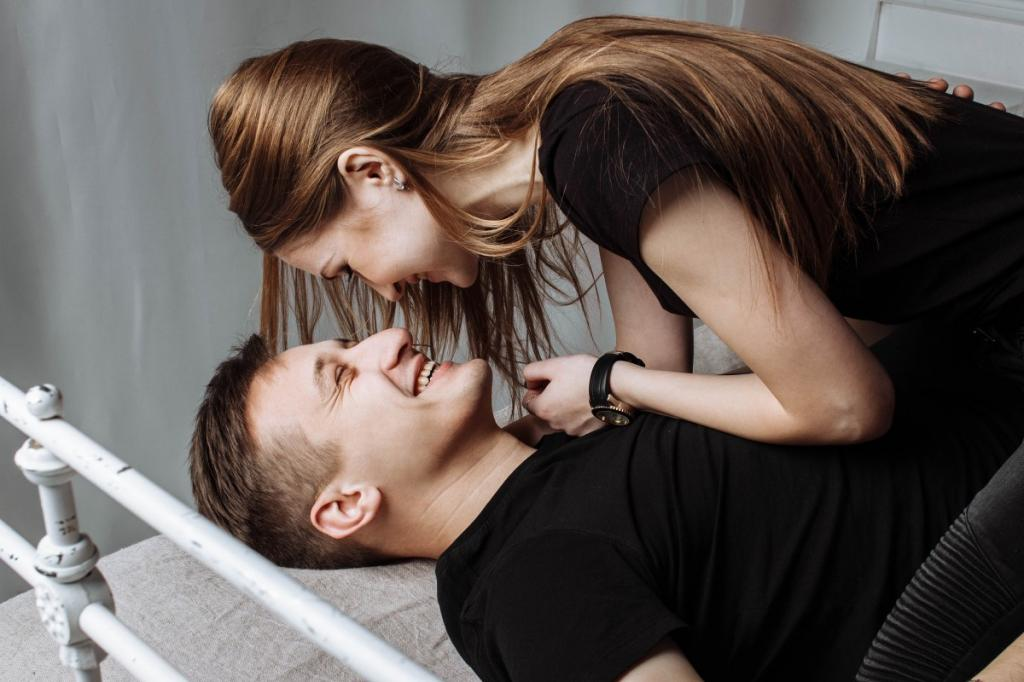 Girl is having fun with a guy.